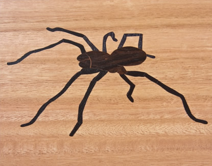 black spider table top